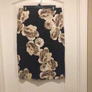 New York & Co. flower print pencil skirt